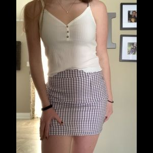 Garage Stretchy Plaid/Gingham Skirt